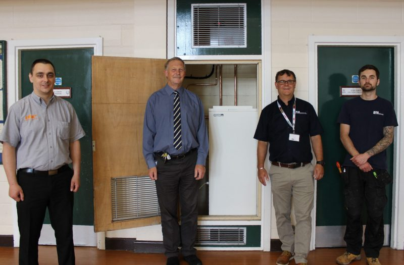 West Midland RFCA estates team and contractors unveil new WarmAir heating system