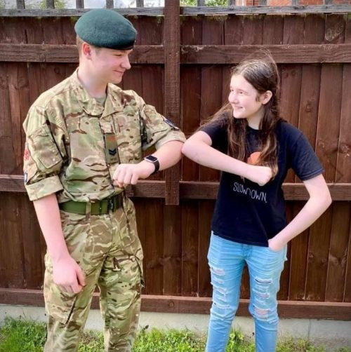 Shropshire ACF welcome new cadet at county's first virtual enrolment