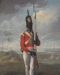 painting of West Indian Soldier in military uniform