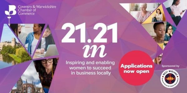 West Midland RFCA are supporting female leadership with the 21in21 event run by the Coventry and Warwickshire Chambers of Commerce.