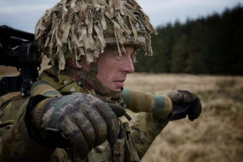 4 Mercian Army Reservists test their marksmanship and undertake training as part of Exercise Saxon Shield in Northumberland.