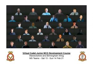 Attendees on virtual JNCO course