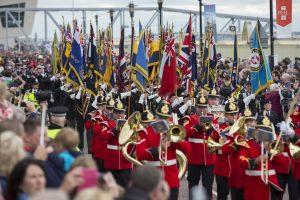 Military band parading