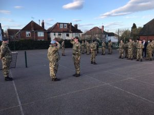 CCF Cadets return to training at Oldswinford Hospital