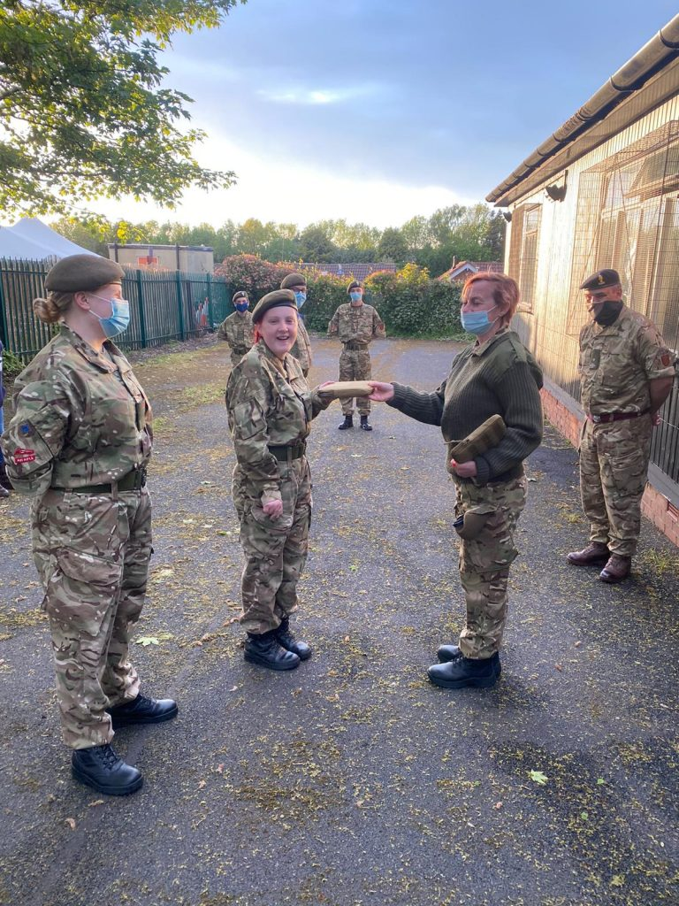 Army Cadets from the Old Hill Detachment receive their new laptops