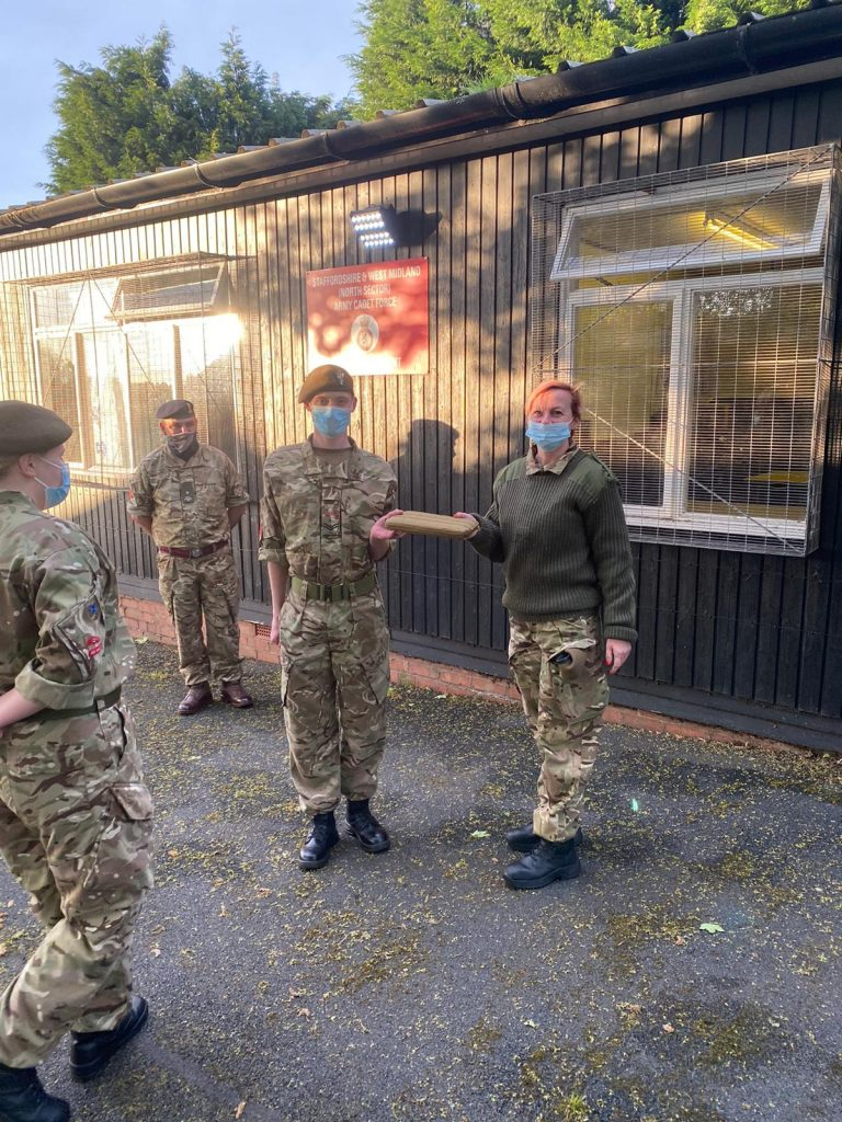 Army Cadets from the Old Hill Detachment receive their new laptops gifted from the Friends of Staffordshire ACF