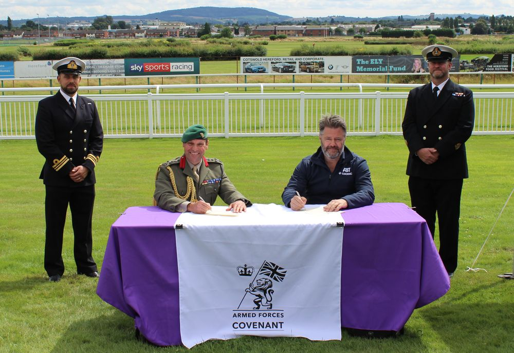 Armed Forces Covenant signing at the Military to Business event