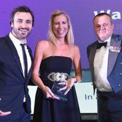 Award winners and presenter