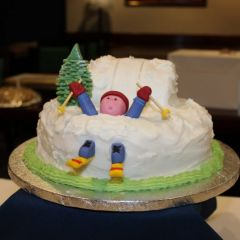 Crashed skier cake entry